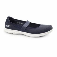 GO STEP - ORIGINAL Ladies Slip On Ballet Flats Navy/Light Blue