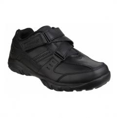 GRAMBLER ZEEM Boys Hook & Loop School Shoes Black