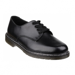 DIEM Boys Leather Lace Up Smart School Derby Shoes Black