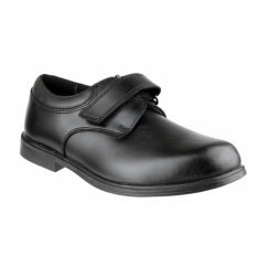 CLASS Boys Leather Touch Fasten Smart School Shoes Black