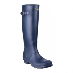 SANDRINGHAM Ladies Tall Wellington Boots Navy
