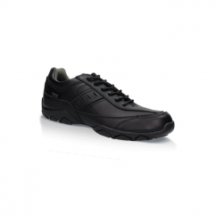 LOTUS LACE Boys Leather Lace Up School Shoes Black