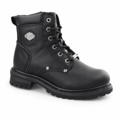 SHAWNEE Ladies Leather Biker Boots Black