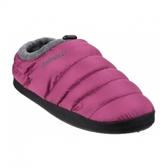 CAMPING Ladies Faux Fur Camping Slippers Purple