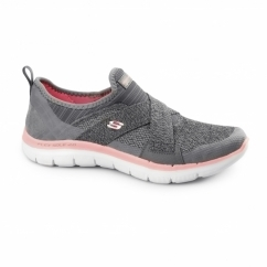 FLEX APPEAL 2.0 - NEW IMAGE Ladies Sports Trainers Charcoal/Coral