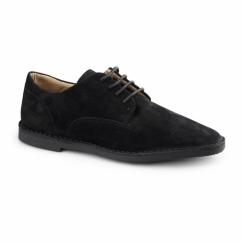 GRANT Mens Suede Desert Shoes Black