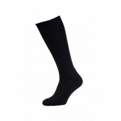 HJ3000 Commando Mens Half Hose Wool Rich Walking Socks Black