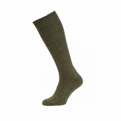 HJ3000 Commando Mens Half Hose Wool Rich Walking Socks Olive