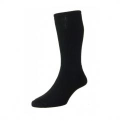 HJ1351 Mens Cotton Diabetic Socks Black