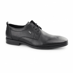 10620-00 TEX Mens Leather Derby Shoes Black