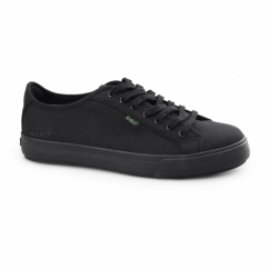 TOVNI LACER Mens Canvas Trainers Black