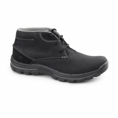 RELAXED FIT: BRAVER-HORATIO Mens Leather Chukka Boots Black
