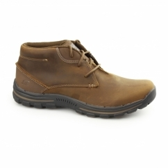 RELAXED FIT: BRAVER-HORATIO Mens Leather Chukka Boots Brown