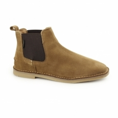 SELBY Mens Suede Chelsea Desert Boots Tan