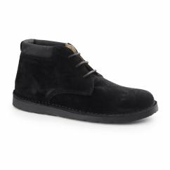 BARRICANE Mens Suede Desert Boots Black