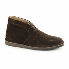 CURTIS Mens Suede Desert Boots Chocolate