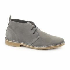 GOBI Mens Suede Lace-Up Desert Boots Castlerock