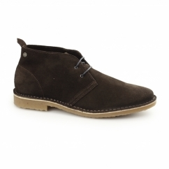 GOBI Mens Suede Lace-Up Desert Boots Java