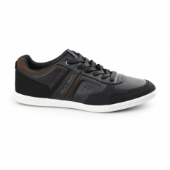 BAJA Mens PU/Canvas Trainers Anthracite