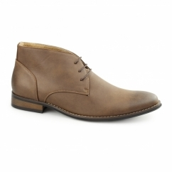 TWAIN Mens Faux Leather Chukka Boots Tan