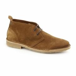 GOBI Mens Suede Desert Boots Cognac