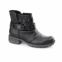 KENTUCKY Ladies Side Zip Ankle Boots Black