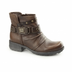 KENTUCKY Ladies Side Zip Ankle Boots Almond