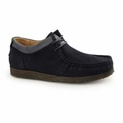 DAVENPORT LOW Mens Suede Shoes Navy