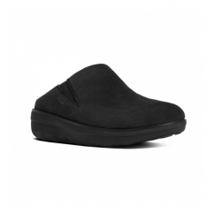 LOAFF™ SUEDE Ladies Suede Mule Clogs Black