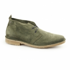 GOBI Mens Suede Lace-Up Desert Boots Forest Night