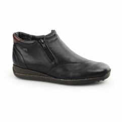 44273-01 TEX Ladies Leather Warm Lined Boots Black