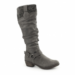 93756-42 Ladies Warm Lined Tall Winter Boots Grey