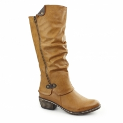93755-24 Ladies Warm Winter Long Boots Brown
