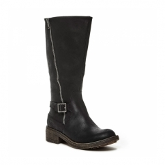 TANKER Ladies Knee High Tall Riding Boots Black