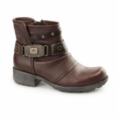 KENTUCKY Ladies Side Zip Ankle Boots Merlot