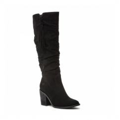DAY Ladies Zip Block Heel Knee High Boots Black