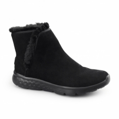 ON THE GO 400-BLAZE Ladies Suede Warm Ankle Boots Black