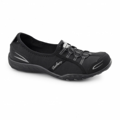 RELAXED FIT:BREATHE EASY-GOOD LIFE Ladies Slip-On Trainers Black