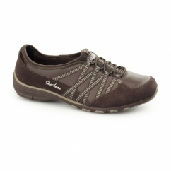 CONVERSATIONS DEBATE Ladies Relaxed Fit Trainers Chocolate/Taupe