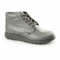 KICK HI C Mens Leather Boots Green/Grey
