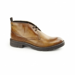 ARCHER Mens Washed Leather Chukka Boots Tan