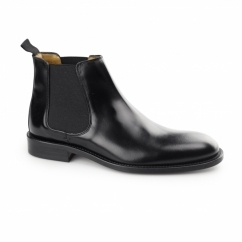 CHELSEA Mens Polished Leather Welted Sole Boots Black