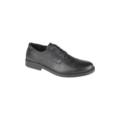 TRISTAN Mens Leather Capped Derby Brouges Black
