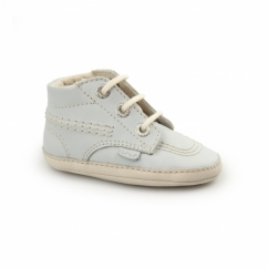 KICK BONNI B Babies Leather Booties Blue/Cream