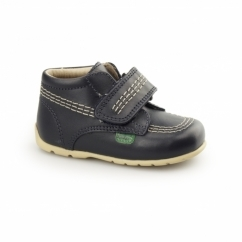 KICK HI STRAP Babies Leather Boots Navy
