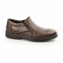 ALAN HANSTON Mens Leather Loafers Dark Brown