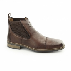 30863-25 Mens Leather Warm Lined Dealer Boots Brown