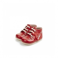 KICK HI Babies Leather Boots Red