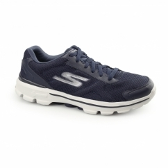 GOWALK 3 - FITKNIT Mens Sports Trainers Navy