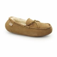 TORRINGTON Mens Sheepskin Moccasin Slippers Chestnut